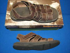 8 Timberland Mens Herringcove Strap Brown Leather Sandals Shoes 86004 Fisherman