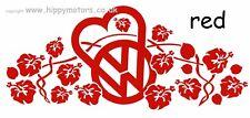RED LOVE VW Hibiscus vinyl car stickers window decal caravan camper van transfer