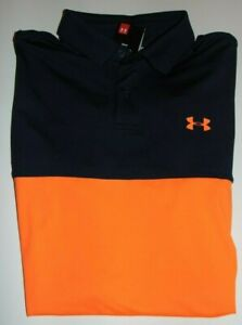~NWT Men's UNDER ARMOUR Neon Short Sleeve Polo Shirt! Size Small Loose Fit Nice!