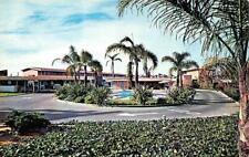 CHULA VISTA, CA California  VAGABOND MOTEL  Pool  ROADSIDE  Chrome Postcard