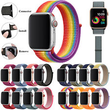 Nylon Sport Loop For Apple Watch Strap Band Series 5/4/3/2 iWatch 38/40/42/44mm