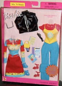 Barbie Fashion Avenue Mix N Match Turquoise Trends Fashion Outfits Pack 2001