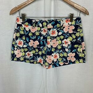 Gap Women's Stretch Floral Print Shorts Cotton Blend Flat Front Casual Size 2