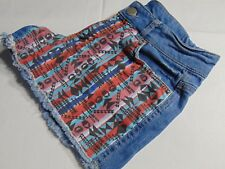 Tezenis Fabric Panel Detail Short Denim Shorts, Juniors/Women's Size Medium