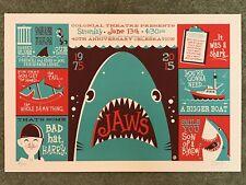 Jaws Dave Perillo Horror Movie Print Poster Mondo Hooper Quint Brody Orca Shark