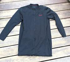 Terramar Mens Military Union Suit Fleece Stretch Medium Black Front Zip Comfort