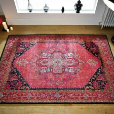 Traditional Oriental Design Vintage Look Rugs Pink Colour Rugs Living Room Rug