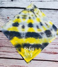 Personalised Tie Dye Baby Muslin Cloth Any Name Grey New Keepsake Gift Shower
