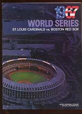 1967 World Series Program Boston Red Sox at St. Louis Cardinals EX