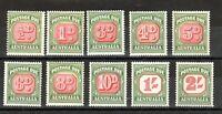 Australia 1958-60 Postage Due set to 2s MNH