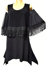 TS top TAKING SHAPE plus sz XXS / 12 Summer Glam Top stretch sexy fringe NWT!