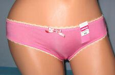 COSMOPOLITAN~6 M~Pink & Yellow Floral Print Semi-Sheer Back Nylon Tanga Panty