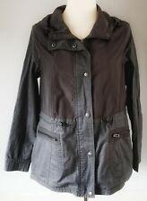 George Women's Jacket Waterproof Grey Size 12 Hood Pockets Casual VGC