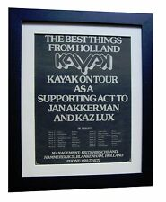 KAYAK+Starlight Dancer+TOUR+RARE ORIGINAL 1977 POSTER AD+FRAMED+FAST+GLOBAL SHIP