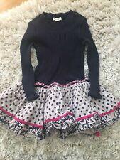 Girls Eliane Et Lena Navy Dress Size 3 EUC