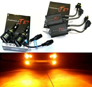 LED G8 Canceler 9006 HB4 Amber Two Bulbs Head Light Low Beam Upgrade Show Color
