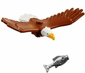 NEW LEGO Bald Eagle with Fish Outdoor Adventure figure from 60202 animal bird