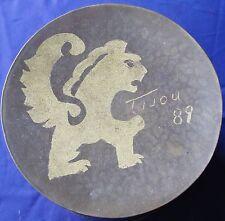 Planished Copper Hand Made Folk Art Canister/Box c1989 A RareCat's Treasure
