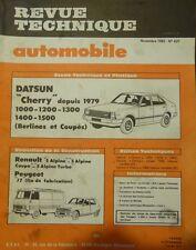 Revue technique DATSUN CHERRY RTA 427 1982 + RENAULT 5 ALPINE TURBO COUPE J7 R5