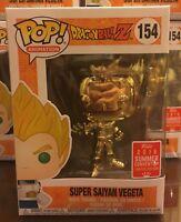 Gold Chrome Super Saiyan Vegeta Funko POP SDCC 2018 Exclusive Dragon Ball Z DBZ