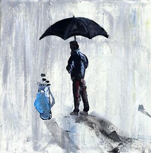 """Contemporary impressionist Painting """"The Golfer"""" By The Artist Vital"""