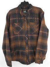 Men's Metal Mulisha Wartime Long Sleeve Flannel Jacket M Medium NWT NEW Brown