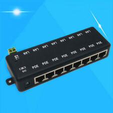 1Pc 8 port passive POE injector power over ethernet for IP network camera LB