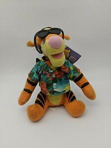 "Tropical Disney Winnie the Pooh Tigger Plush Applause 10"""