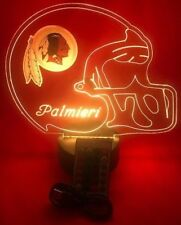 Redskins Light Up Night Light Table Lamp LED Personalized NFL Football, Remote
