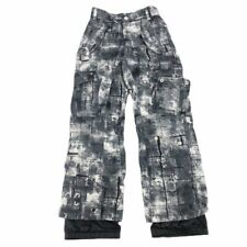Body Glove Boys Snow Pants Black Camouflage Pockets Mesh Lined Waterproof 10