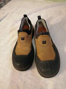 Clarks Brown Leather Rubber Waterproof Duck Shoes 32376 Men's 7 M VGC
