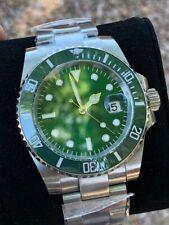 40mm Green Sterile Dial Sapphire Glass Ceramic Green Bezel Watch BNIB