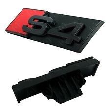 Audi S4 Gloss Black Grille Badge Emblem - Easy Install - Front Emblem Fits S4