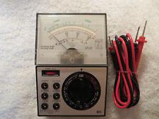 RADIO SHACK VINTAGE MICRONTA 22-202U MULTITESTER MALTIMETER W/ PROBS