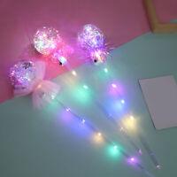 Light-Up Princess Wand Fairy LED Scepter Magic Heart Stick Flashing Toys