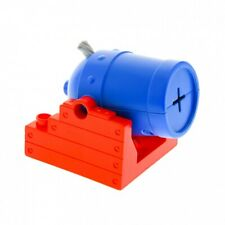 1 x Lego Duplo Cannon Holder Red 4x4 Cannons Pipe Blue Set Pirates Boat Ship R