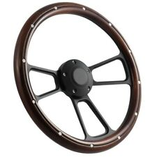 1932 & up Ford Truck w/GM Column Black & Mahogany Steering Wheel & Horn Kit