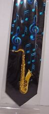 Saxophone with blue notes Tie