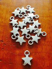 Antique Silver Little Star charm / pendant x 20