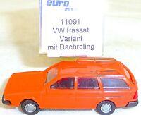 VW Passat Variant Reeling de Techo Naranja imu / Euromodell 11091 H0 1/87 Ovp #