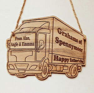 Personalised Wooden Lorry/Truck Plaque-Sign, Gift for Anniversary, Birthday