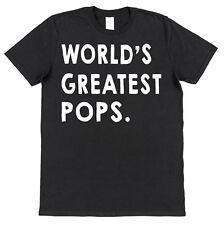WORLD'S GREATEST POPS T-SHIRT christmas gift birthday papa daddy grandad grandpa