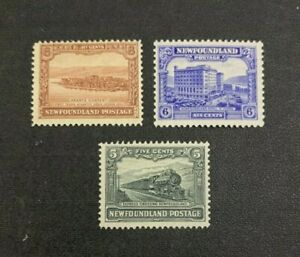 Newfoundland Stamps #149-151 Mint Hinged