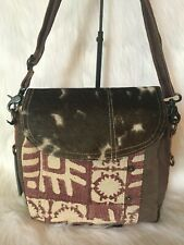 New Myra Bag Pink Madness Shoulder Bag Genuine Leather Canvas Cow Hide