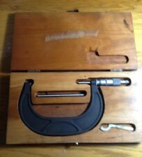 Scherr Tumico Micrometer 4 - 5 Inch With Case And Calibration Rod
