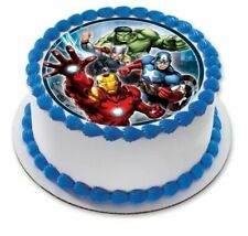 The Avengers Personalised Edible Birthday Party Cake Decoration Topper Image
