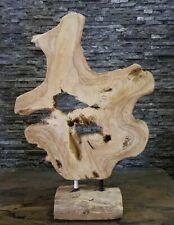 Teak Holzskulptur Baumscheibe Statue Holzkunst Baum Deko Holzobjekt Ho.2002