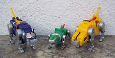 Trendmasters Voltron 3rd Dimension 1998 Mighty Lion Force Blue Green Yellow Lot