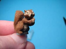 Dollhouse Miniature or Fairy Scene Squirrel Eating A Nut 3/4''