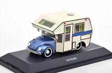 1:43 Schuco VW Beetle Motorhome bluemetallic/creme
